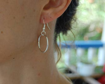 Minimalist earrings silver ring