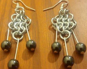 Custom European Weave Beaded Fish Hook Earrings