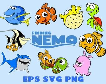 Disney svg, nemo svg, finding nemo svg, cartoon svg, finding nemo shirt, dora svg, finding dora svg, nemo invitation, cartoon clipart svg
