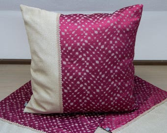 Cushion cover Red/Gold 50 x 50 cm