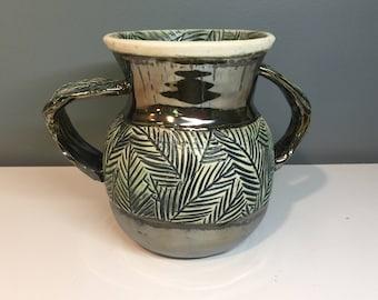 Double-Handled Pine Bough Vase