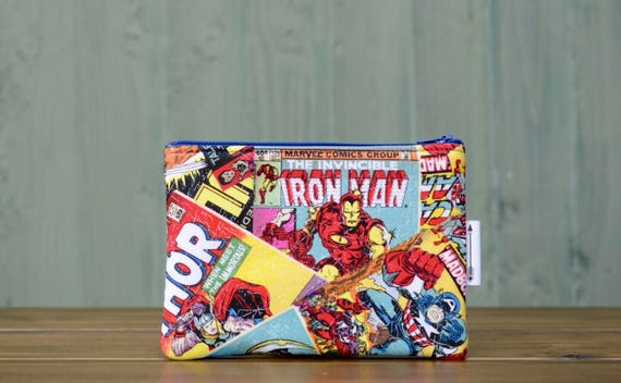 Marvel Comic print zipped pouch