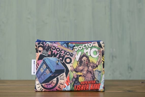Dr Who Comic Print zipped pouch