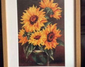 Sunflower  5D crystal  art framed