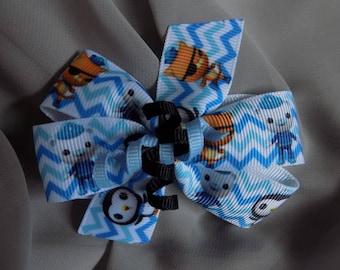 Octonauts Girl's Hair Bow - Hair bow for girls, Toddler hair bow, Hair accessories, Barrettes and clips, Handmade hair bow, Bow hair clip