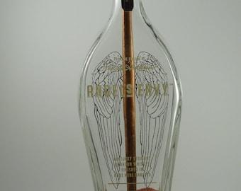 Angel's Envy Bourbon Bottle Lamp w/ Bowling Lane Wood Base