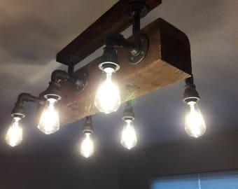 Reclaimed wood Chandler light