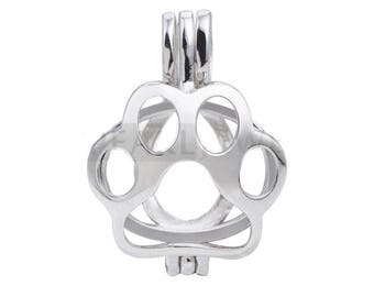 Bear Claw Cage 925 Sterling Silver Love Wish Pearl Pendant CDSWP58