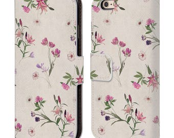 Leather iPhone 7 Wallet Case,Floral Phone Case,Floral Flip Case,Wallet Case,iPhone 5c/5/ 5S/ 6/ 6S /7 Plus,Gift for Women,Gift for Her-20