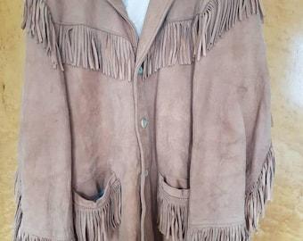 Lovely western rockabilly suede tassel trapper jacket