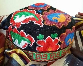 A Traditional Uzbek Headwear Duppi cap, Skullcap, a VERY NICE CAP!