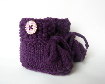 Baby Shoes dick extrawarm knitted knitted baby shoes baby Booties