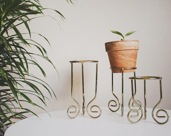 Air Plant Holder Plant Stand Candle Holder Candle Rings Living Room Decor Metal Plant Stand Gold Planter Boho Decor Bohemian