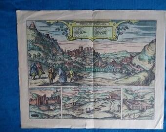 Spain, Alhambra, Granada-g. Braun and f. Hama-1575-1612!!!! Replica!!!!