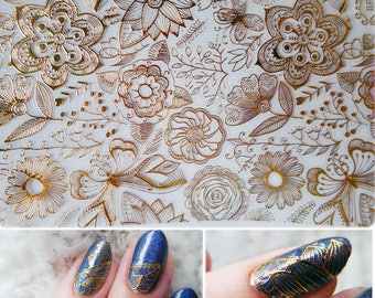 Nail art stickers etsy 1 sheet 3d nail stickers embossed rose flower 3d nail art stickers decals prinsesfo Gallery