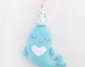 Blue Narwhal Plush