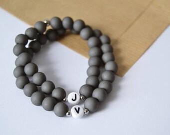 Personalised couple bracelet / couple bracelet / set of 2