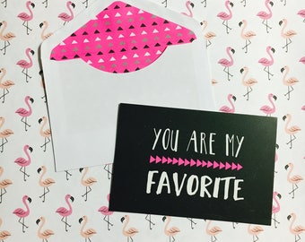 Cute You Are My Favorite 8 Count Postcards