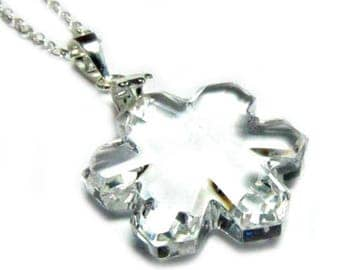 Sterling Silver Necklace with Swarovski® Crystal Snowflake #2145