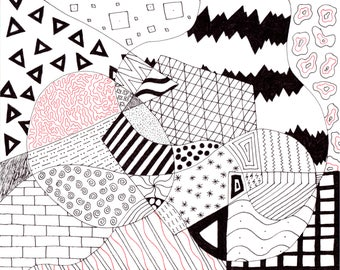 Geometric Print of Hand Drawn Original Artwork - #3