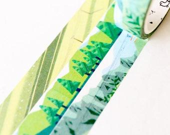 City and Countryside  Washi Tape/Striped Washi / Masking tape/ japanese washi tape/Planner Supplies