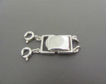 Layering Clasp, Sterling silver Layering necklace clasp, Spacer Clasp, Detangler Clasp, multi stand necklace clasp