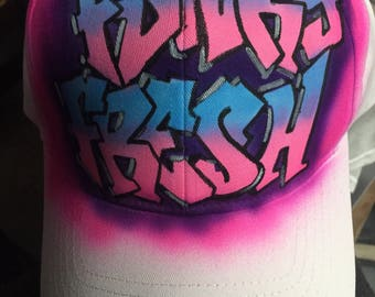 Funky fresh airbrushed cap