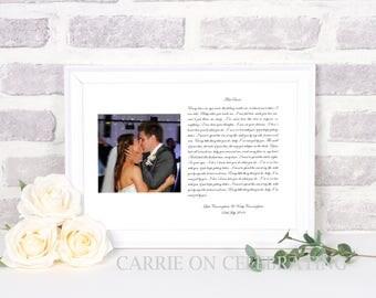 Wedding Gift First Dance Lyrics/ First Dance Lyrics/ Wedding First Dance Lyrics/ Printed Lyrics/ First Dance / Song Lyrics/ UNFRAMED PRINT