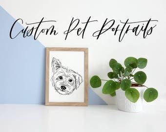 Custom Pet Portrait | Hand Drawn Illustration