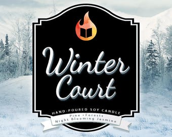 Winter Court - Hand-Poured Soy Wax Candle Inspired By The A Court of Thorns and Roses Series