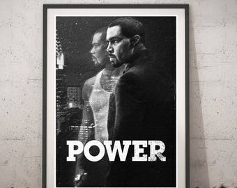 Power TV Series poster, Printable wall art, Movie poster, Instant Download, Power TV Series Home Decor, Cool gift