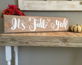 It's Fall y'all Wall Decor sign