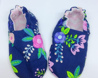 Baby Girl Booties/ Reversible Crib Shoes