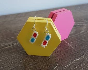 3d Glasses Earrings-For Movie Fanatics and Doctor Who fans!