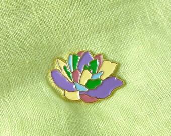SALE: Succulent Pin, Rainbow Lapel Pin, Pastel Cactus Pin