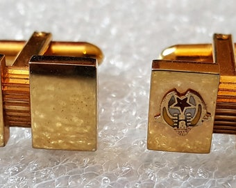 Vintage Cuff Link Set , Possible Russian Symbol ?