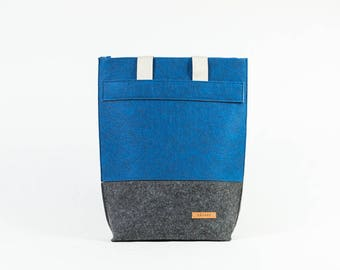 Bag, shopping bag, tote bag made of felt, designer bag, shopper, shoulder bag, gift, felt, felt, handmade [IWA]