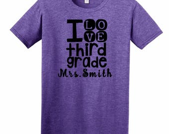 Third Grade Teacher Shirt