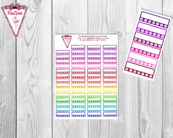 Printable Habit Tracker Stickers - Functional Stickers w/Cut Line