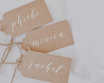 Kraft Gift tags // Calligraphy // Hand lettered
