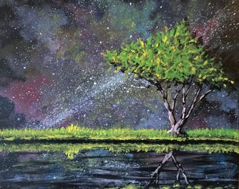Custom Order Starscape with tree