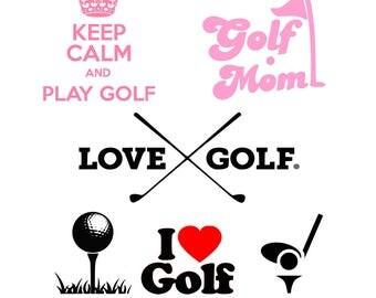 Golf svg, Golf Mom svg, Sport svg, Keep Calm svg, Golf heart svg