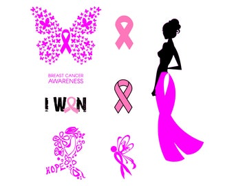 Breast cancer svg Girl power svg Hope svg Awareness ribbon svg Pink ribbon svg  svg decal SVG Instant Download svg dxf eps png
