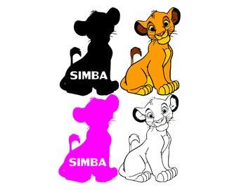 Lion king svg Simba svg Lion svg Disney svg Vector file Disney files silhouette digital  svg eps png dxf