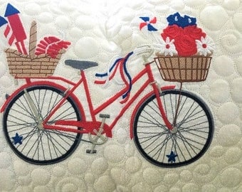 Seasonal Bicycle Pillow