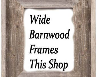 Large Square Wide Width Picture Frame, Square Barnwood Frame, Barn Wood Picture Frame, Housewarming Gift, Nursery Gift, Wedding Gift
