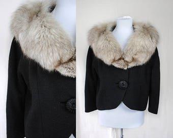 1950s Fox Fur Jacket // 1950s Coat // Dan Millstein Jacket // Vintage Fur Coat // 1950s Clothing // Vintage Outerwear // Witchy Outerwear