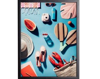 Framed photographic print St. Tropez