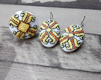 Ring and earrings set original gift for special occasion ;)