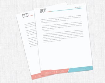 Letterhead template  Customizable
